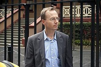 David Shoebridge - Shoebridge outside Parliament House in Sydney