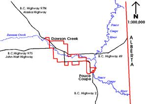 Dawson Creek Canada Map Dawson Creek   Wikipedia