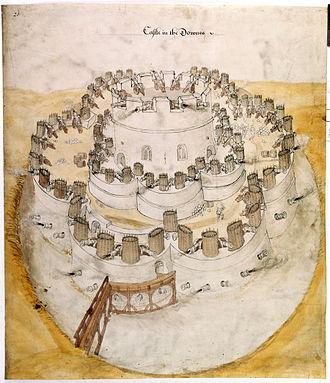 Deal Castle - Draft 1539 plan probably shown to Henry VIII