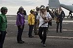 Defence Minister Manohar Parrikar and Secretary of Defense Ash Carter arrive on the USS Dwight D. Eisenhower.jpg