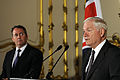 Defense.gov News Photo 100608-F-6655M-009 - Secretary of Defense Robert M. Gates and British Defense Secretary Liam Fox hold a press conference in the Lancaster House in London on June 8.jpg