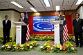 Defense.gov News Photo 101109-D-7203C-020 - Secretary of Defense Robert M. Gates and Malaysian Defense Minister Ahmad Zahid Hamidi conduct a joint press conference in the Defense Ministry.jpg