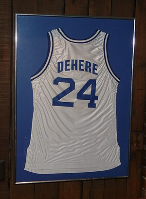 Terry Dehere - Dehere's Seton Hall jersey displayed in his Jersey City restaurant