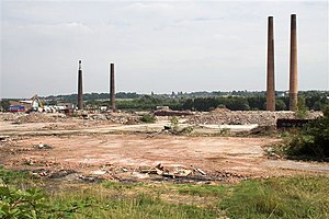 Proact Stadium - Dema Glassworks, before the construction of the stadium