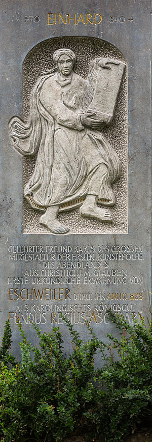 Einhard - Einhard memorial in the German city of Eschweiler