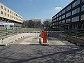 Dennis Gabor College, underground garage, barriers, 2019 Kelenföld.jpg