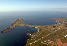 Photograph of Ronaldsway from the air
