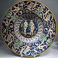 Deruta (attr.), tagliere con orfeo ed euridice, 1530 ca..JPG