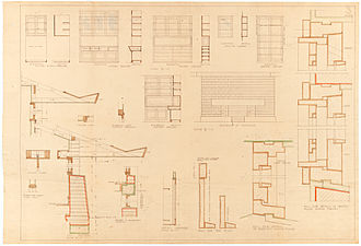 Marion Mahony Griffin - Design for Suburban Residence Exhibit Plan 1