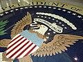 Detail of Presidential Seal in Foyer - Richard M. Nixon Presidential Library & Birthplace - Yorba Linda, CA - USA (6773601880).jpg
