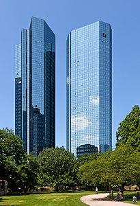 Deutsche Bank twin towers in Frankfurt am Main, Germany