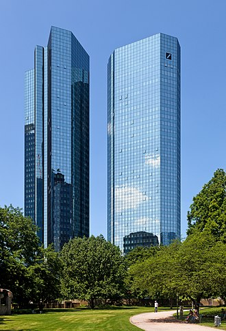 Deutsche Bank - Deutsche Bank Twin Towers in Frankfurt, Germany