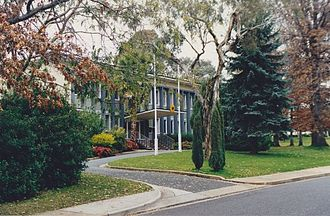 Embassy of Germany, Canberra - German Embassy Canberra in 1980