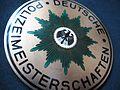 Deutsches Polizeisportkuratorium Meisterschaften 1953 Bronze 3 Sieger im 4 x 100 Meter Staffellauf Rückseite.jpg