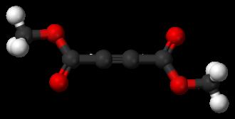 Dimethyl acetylenedicarboxylate - Image: Dimethyl acetylenedicarboxyla te 3D balls