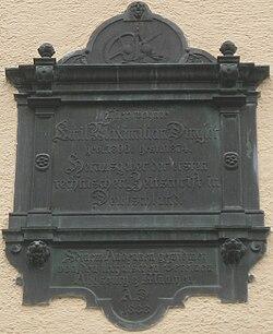 Photo of Emil Maximilian Dingler black plaque