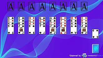 Diplomat (solitaire) - Image: Diplomat (solitaire) Layout