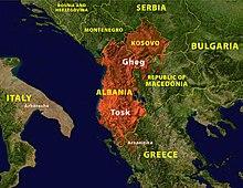 Teritorio de albana lingvo
