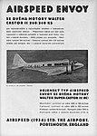 Dobová reklama Airspeed Envoy s motory Castor II a Super Castor (Letectví č. 9, 1935).jpg