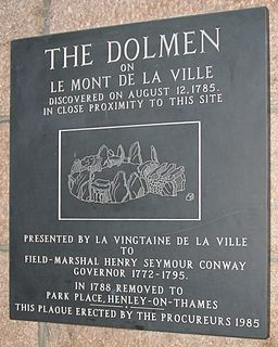 Jersey dolmens neolithic sites, including dolmens, in Jersey