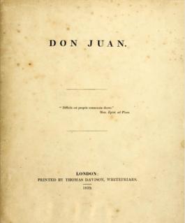 <i>Don Juan</i> (poem) Satiric poem by Lord Byron