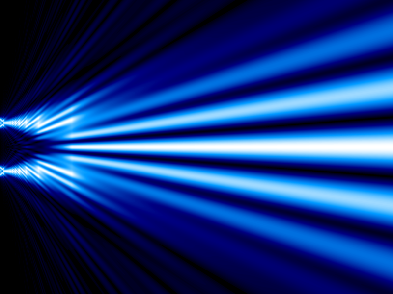 File:Double slit x-ray simulation monochromatic blue-white.png