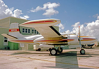 On Mark Marksman - On Mark Marksman C N60XX fitted with deepened pressurised fuselage, R-2800 engines and wing tip tanks