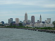 Downtown Cleveland from Edgewater State Park
