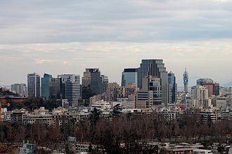 Santiago (commune) - The Skyline of Santiago Commune Financial and Commercial Center