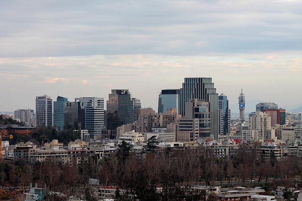 Downtown Santiago Skyline