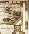 Dresden Palais Kaskel-Oppenheim, Speisesaal - Helas 1999, S. 58 Entwurf für die Decke des Speisesaals gezeichnet von Gottfried Semper.jpg