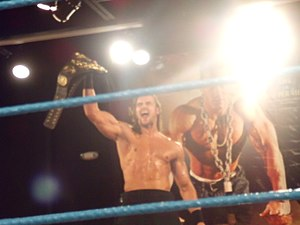 Drew McIntyre - Galloway with the Florida Heavyweight Championship belt