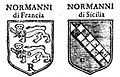 Duchy of Normandy and House of Hauteville coats of arms.jpg