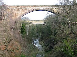 History of the North British Railway (until 1855) - Dunglass Viaduct; the twentieth century road bridge is behind