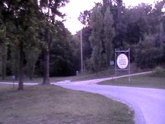 Dutch Mills, Arkansas - Turn off to Dutch Mills on AR 59