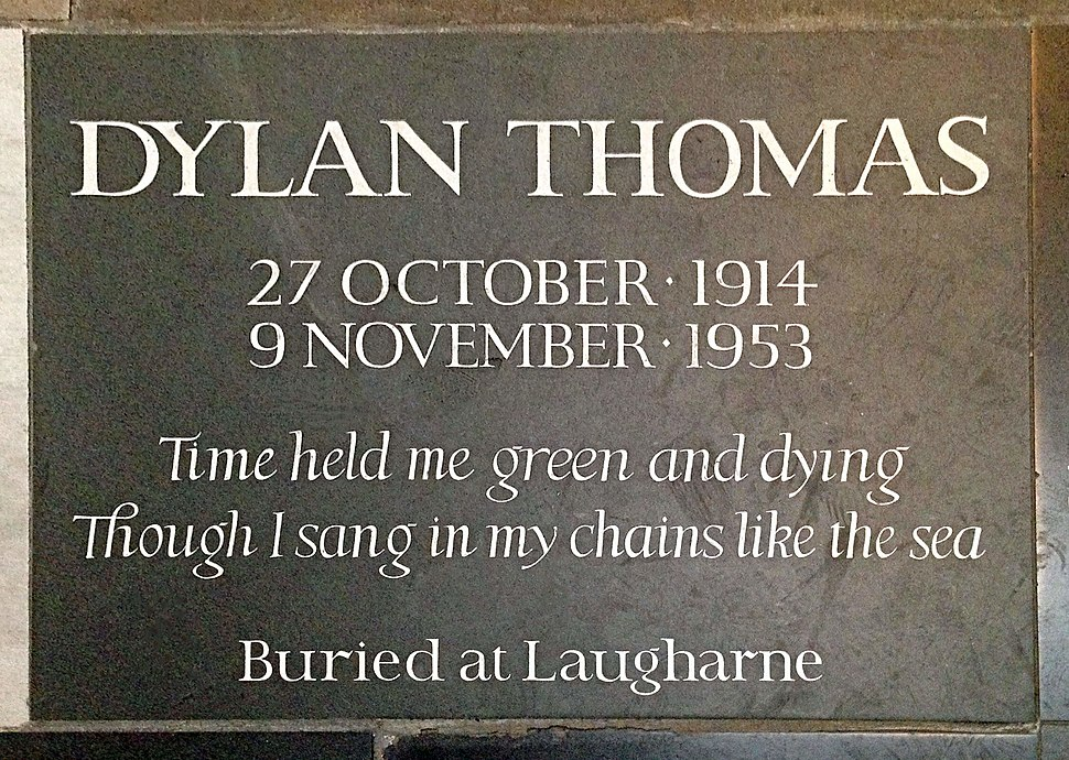 Dylan Thomas Poets Corner Westminster Abbey,