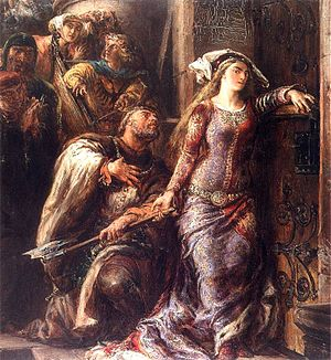 Dymitr of Goraj - Dymitr of Goraj and Jadwiga of Poland, painting by Jan Matejko