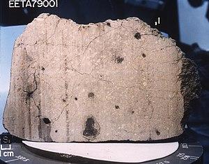 Martian meteorite - Martian meteorite EETA79001, shergottite