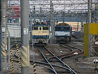EF64 1002 and EF65 1062 Hachioji 20080223.jpg