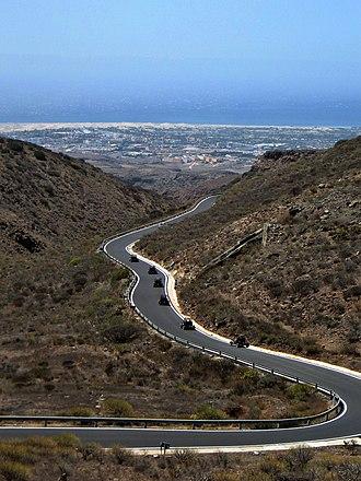 Fataga - Image: ES7010025 Gran Canaria Fataga Sur de la isla desde el Mirador de la Degollada de las yeguas IMG 0747