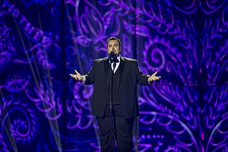 Belgium in the Eurovision Song Contest 2014 - Axel Hirsoux during the first semi-final dress rehearsal