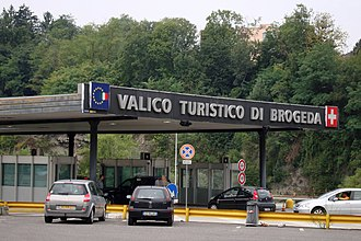 Border checkpoint - Italian-Swiss border post - since Switzerland joined the Schengen Agreement in 2009, this checkpoint is solely for customs formalities
