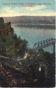 Postcard of Eagle Point Park Stairway and Bridge, Circa 1912