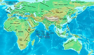 1st century BC - Eastern Hemisphere at the beginning of the 1st century BC.