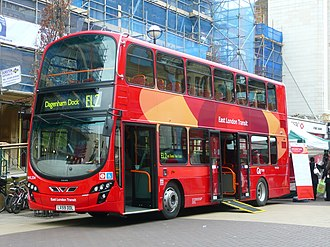 Blue Triangle - Wright Eclipse Gemini 2 bodied Volvo B9TL with East London Transit branding