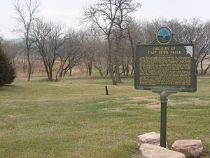 Minnehaha County, South Dakota - Sign marking the site of the former town of East Sioux Falls
