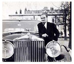 Eddie Chapman - Chapman and his Rolls-Royce.
