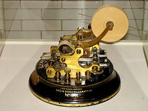 Ticker symbol -  Stock telegraph ticker machine by Thomas Edison