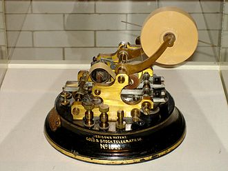 History of telecommunication - Stock telegraph ticker machine by Thomas Edison