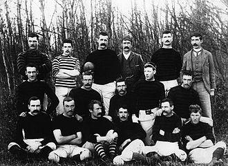 William S. Edmiston - Edmonton Football Club in 1892, Edmiston is in the front fow, third left
